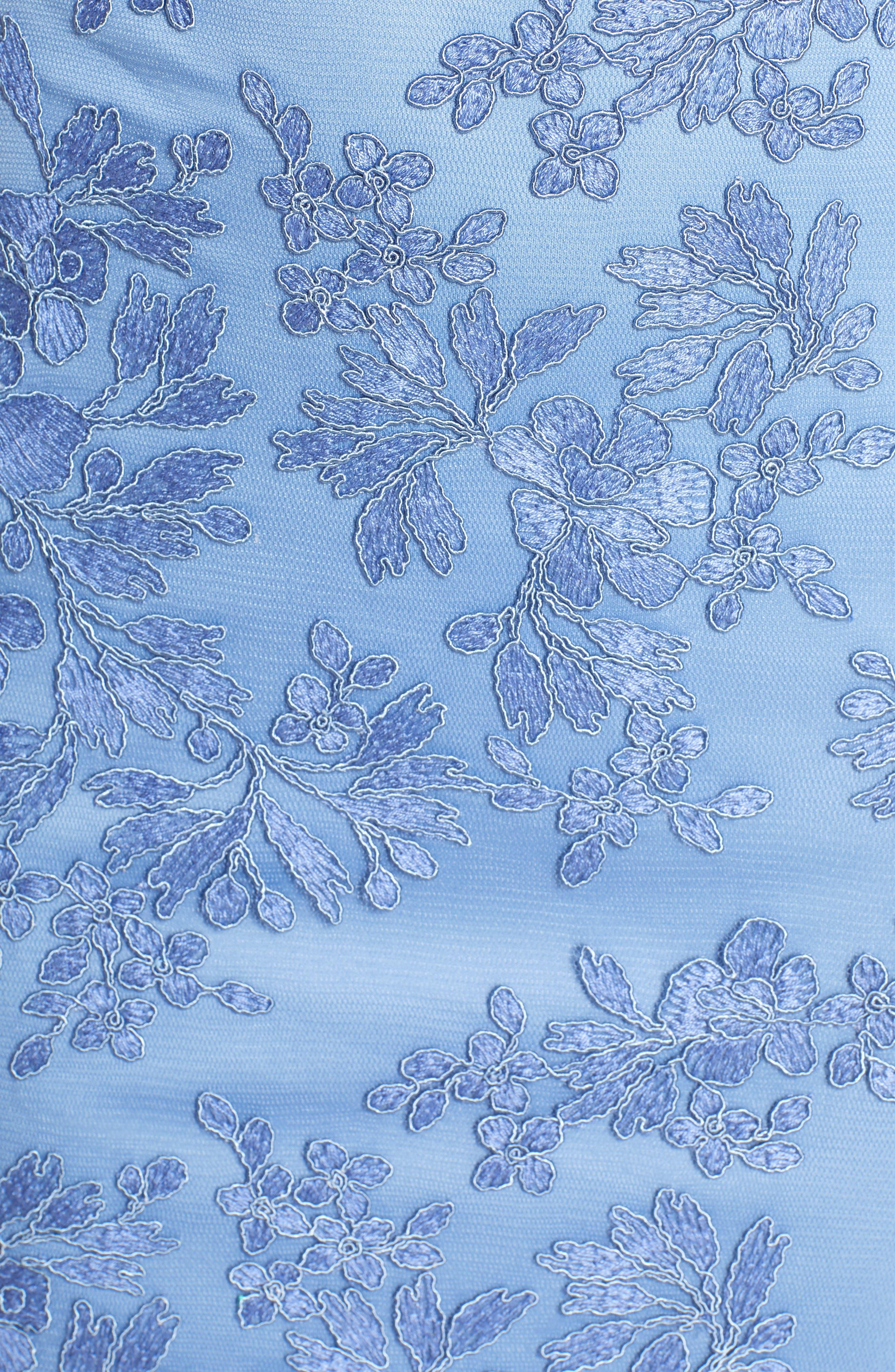 ,                             Corded Lace Sheath Dress,                             Alternate thumbnail 6, color,                             BLUE STONE