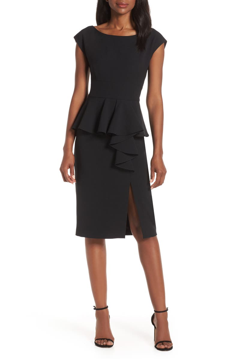 HARPER ROSE Peplum Sheath Dress, Main, color, 001