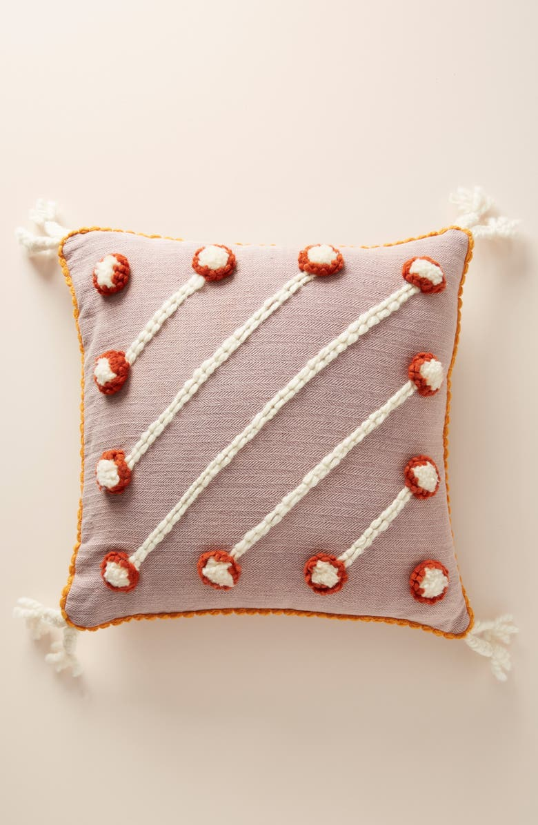 ANTHROPOLOGIE Simal Accent Pillow, Main, color, LILAC