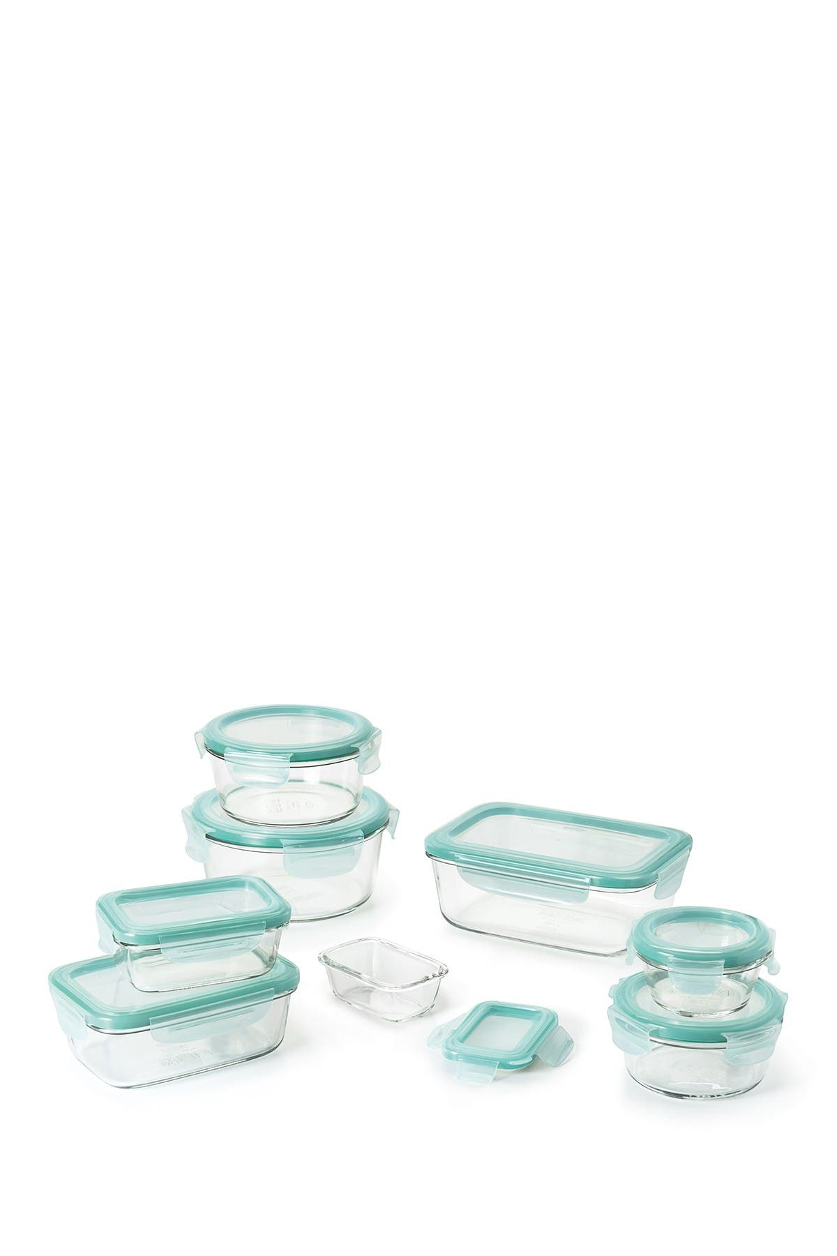 Image of Oxo Good Grips 16-Piece Smart Seal Glass Food Storage Container Set