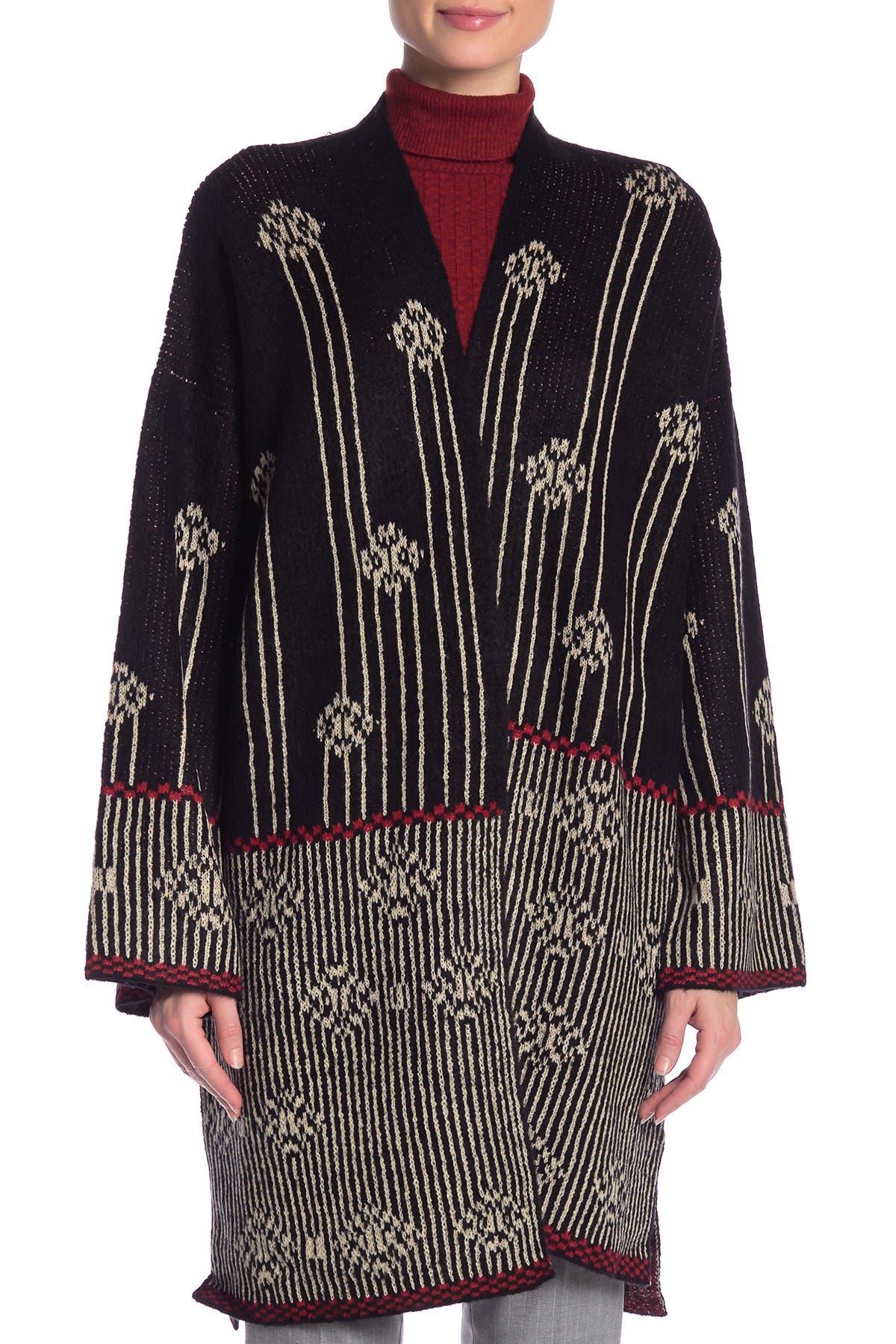 Vertigo Geo Printed Sweater Coat