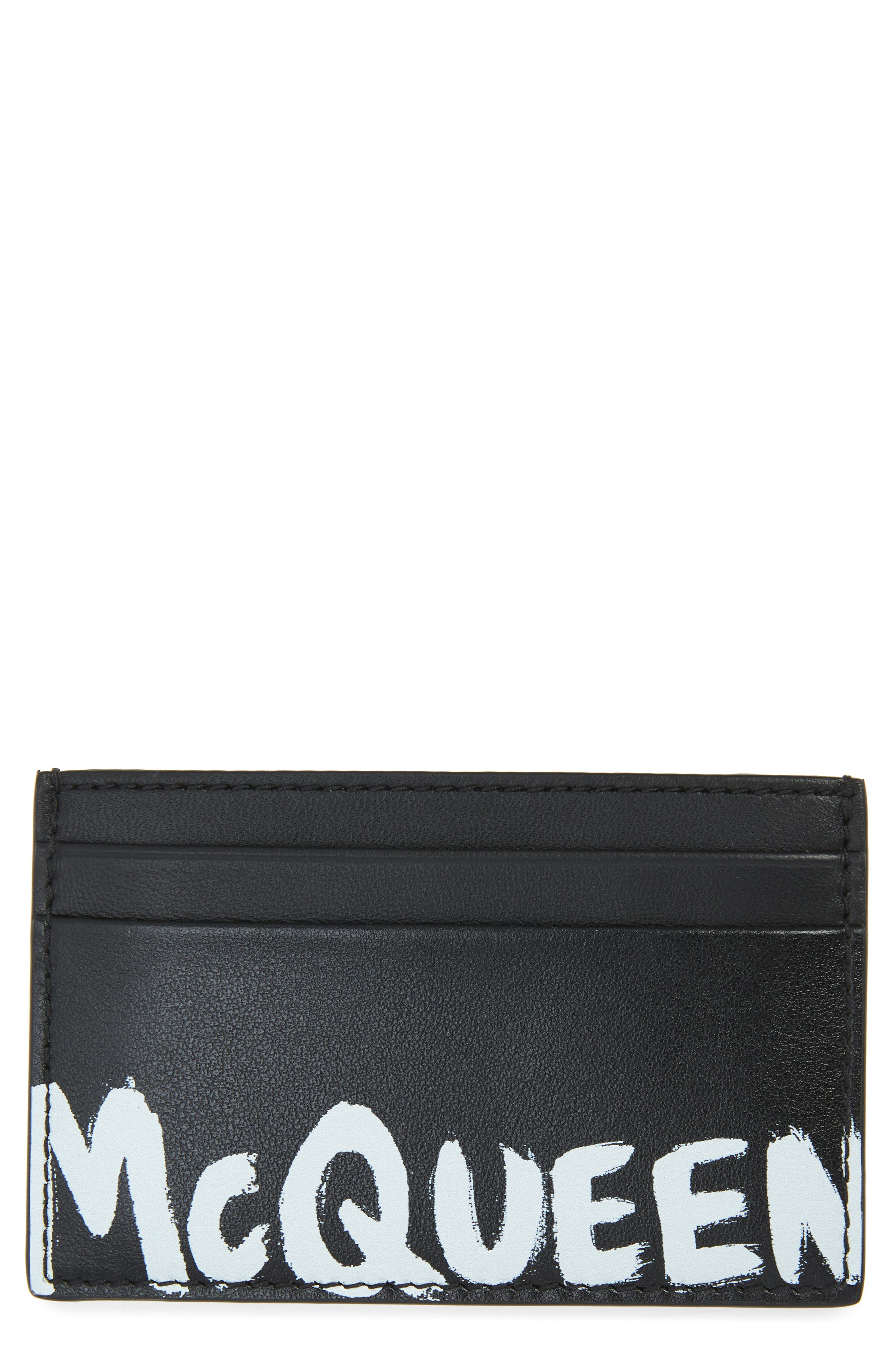 Graffiti Logo Leather Card Case