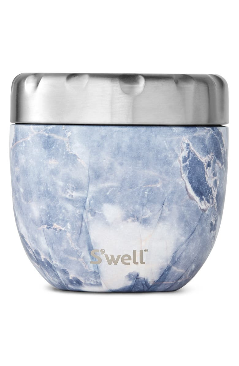 S'WELL Blue Granite Eats<sup>™</sup> Insulated Stainless Steel Bowl & Lid, Main, color, BLUE GRANITE