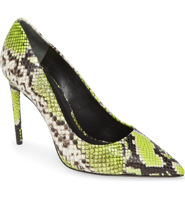 ALICE + OLIVIA Creda Pump, Main, color, NEON YELLOW
