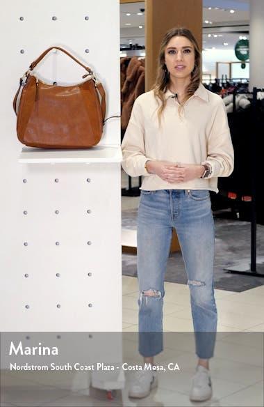 Suede & Faux Leather Shoulder Bag, sales video thumbnail