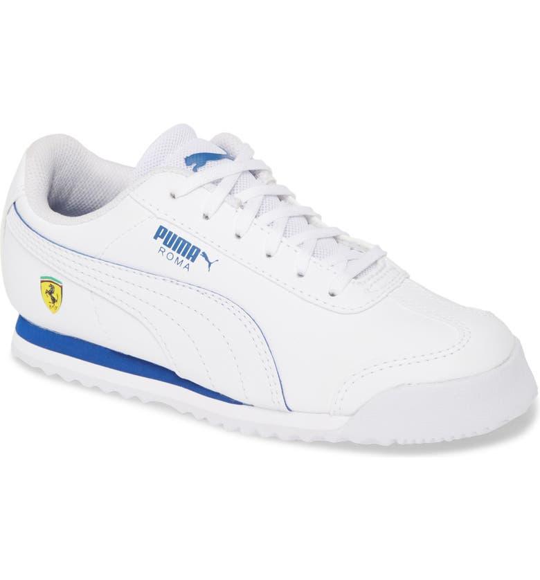 PUMA SF Roma Sneaker, Main, color, PUMA WHITE-WHITE-GALAXY BLUE