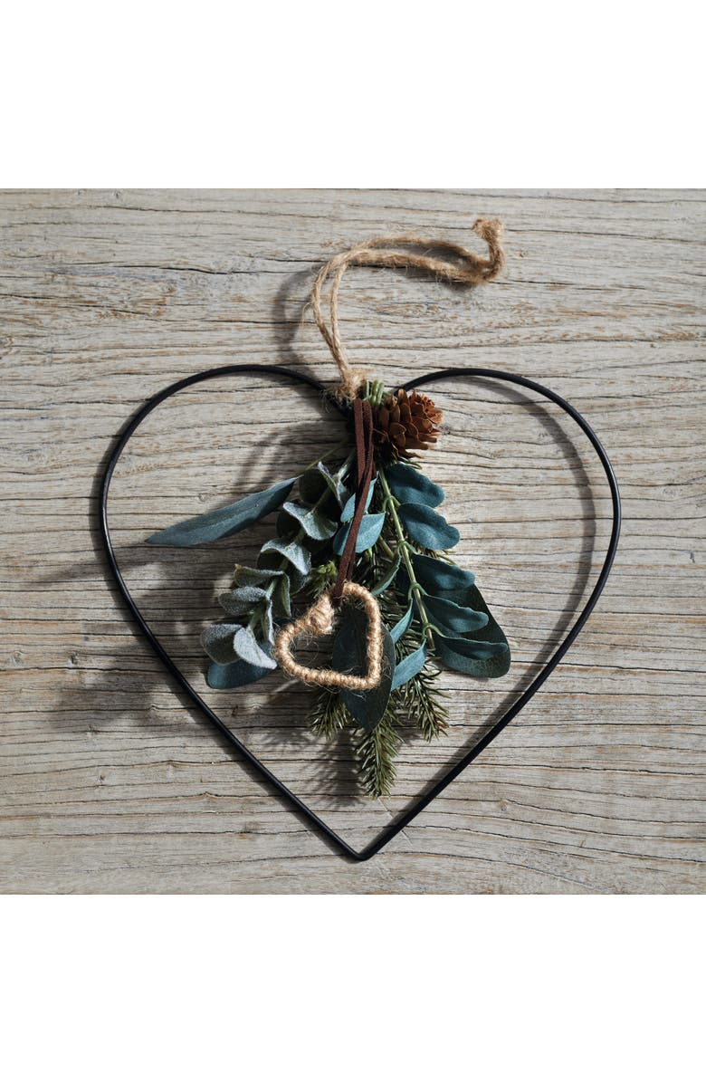 THE WHITE COMPANY Mini Dressed Nordic Heart Christmas Decoration, Main, color, MULTI