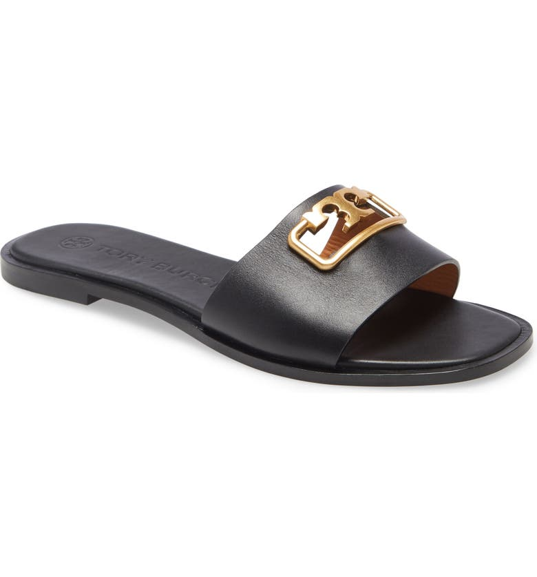 TORY BURCH Selby Slide Sandal, Main, color, PERFECT BLACK