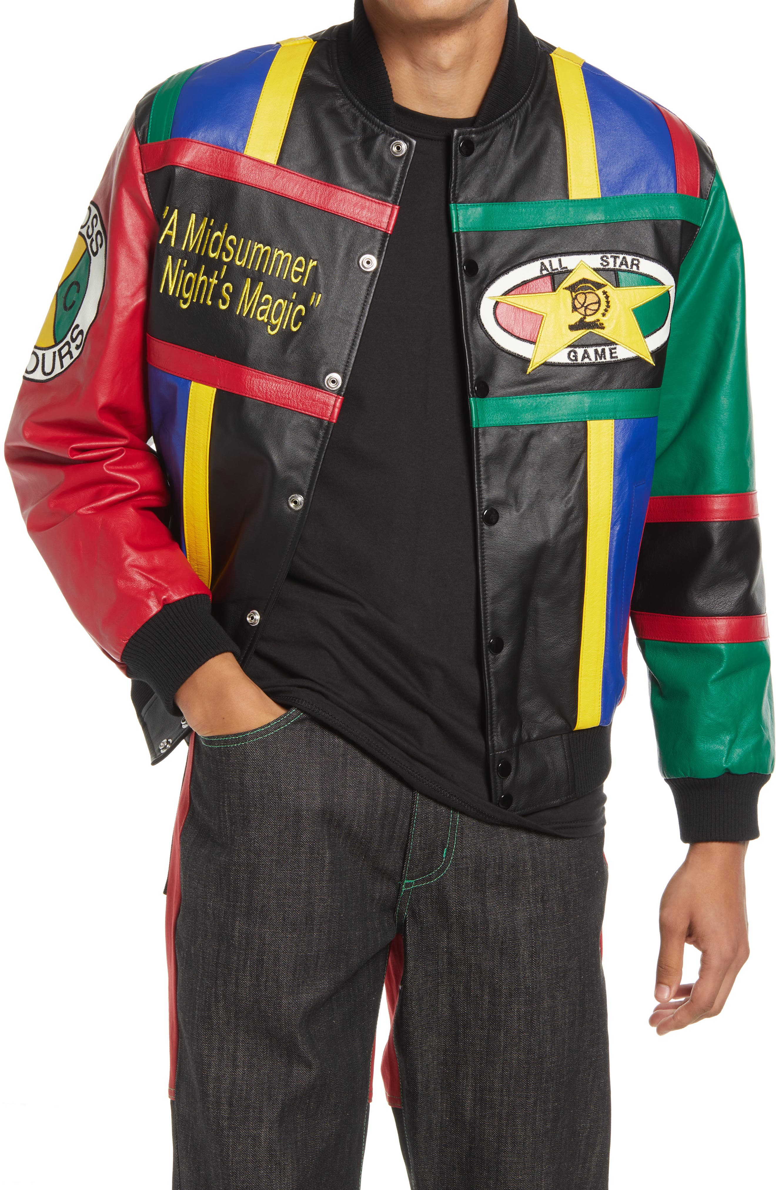 Gender Inclusive Midnight Summers Magic Leather Jacket