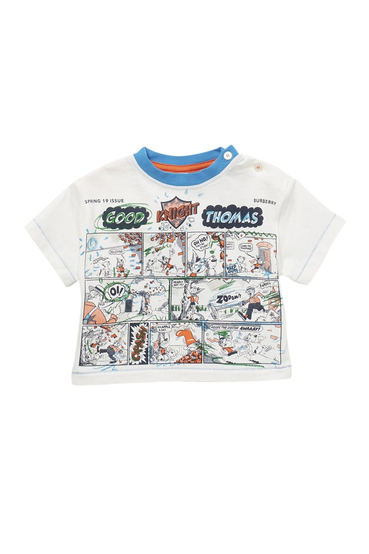 Image of Burberry Comic Thomas Ringer Tee
