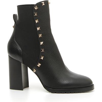 Valentino Garavani Rockstud Block Heel Bootie - Black