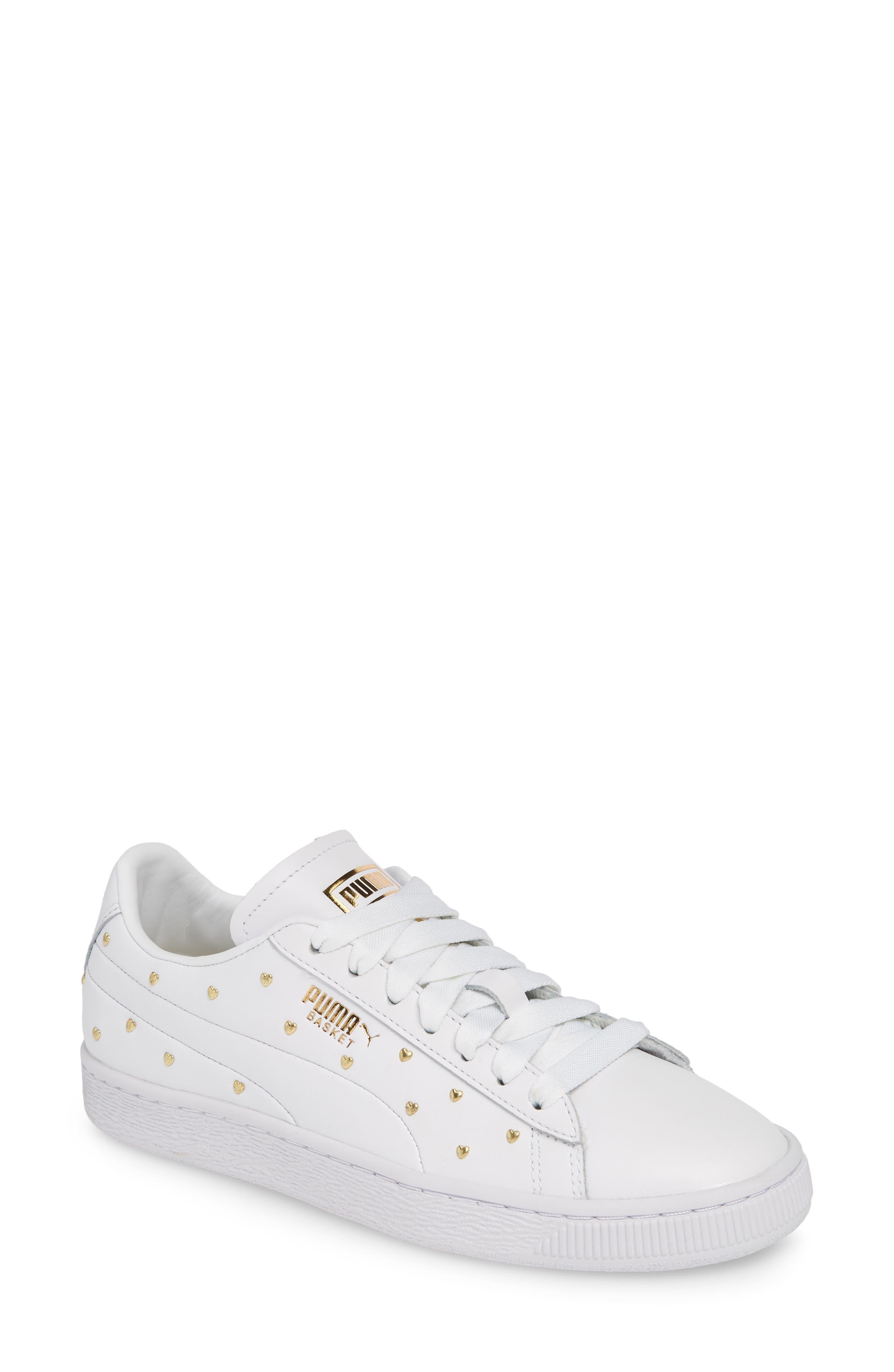 Puma Basket Studs Sneaker, White