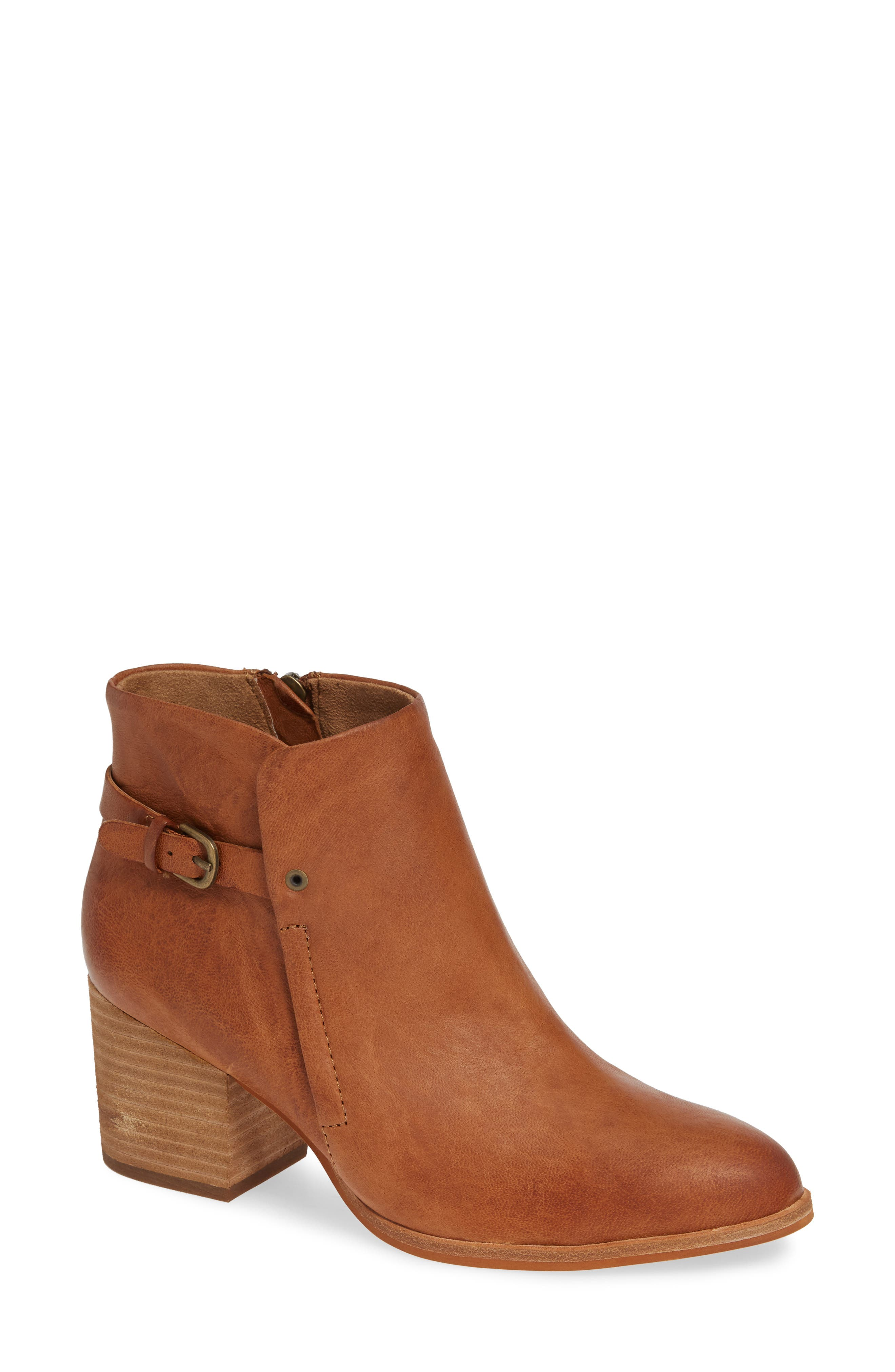 Isola Orlinda Block Heel Bootie- Brown