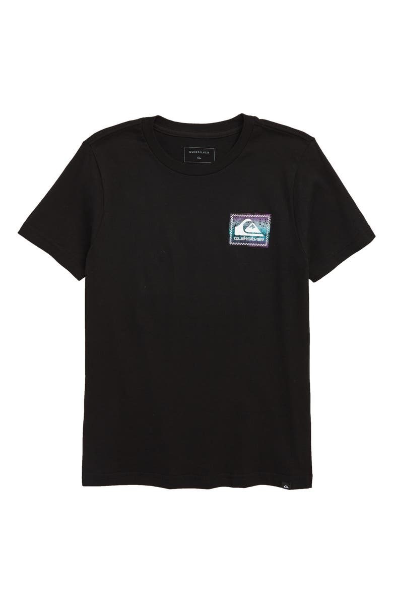 QUIKSILVER Quicksilver Checked Out Graphic T-Shirt, Main, color, BLACK