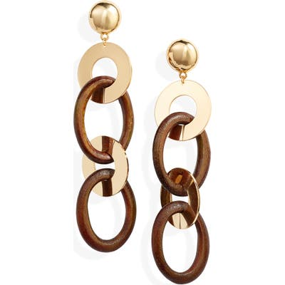Ettika Link Drop Earrings