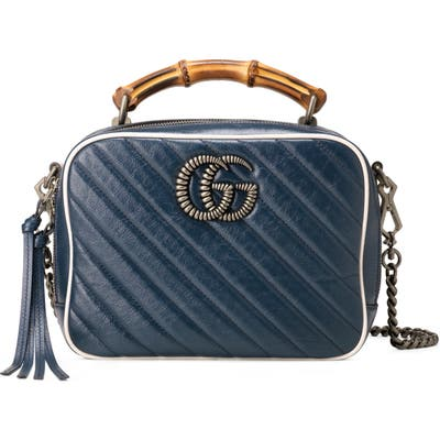 Gucci Small Quilted Leather Shoulder Bag - Blue