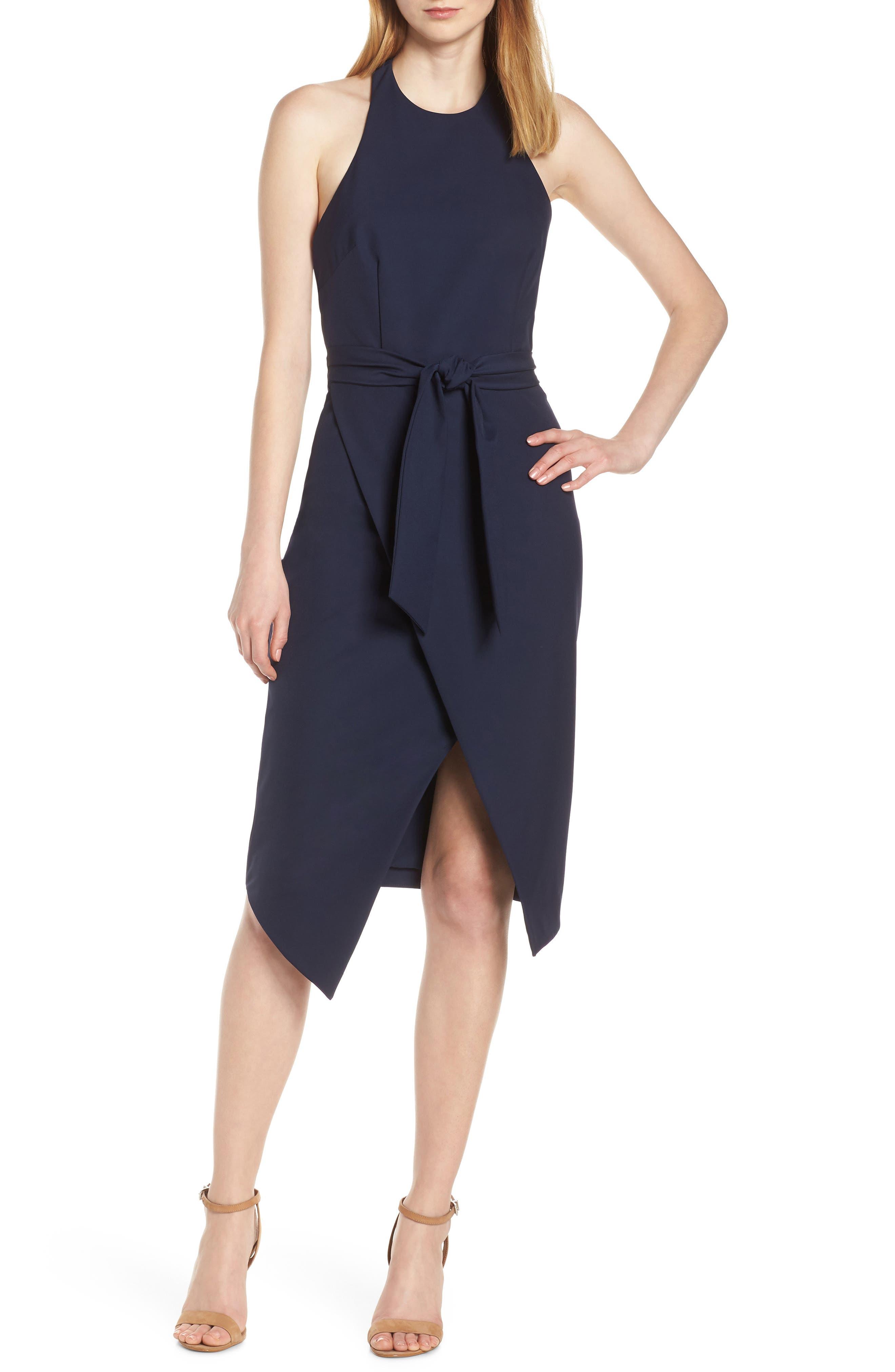 Finders Keepers Essie Halter Dress, Blue