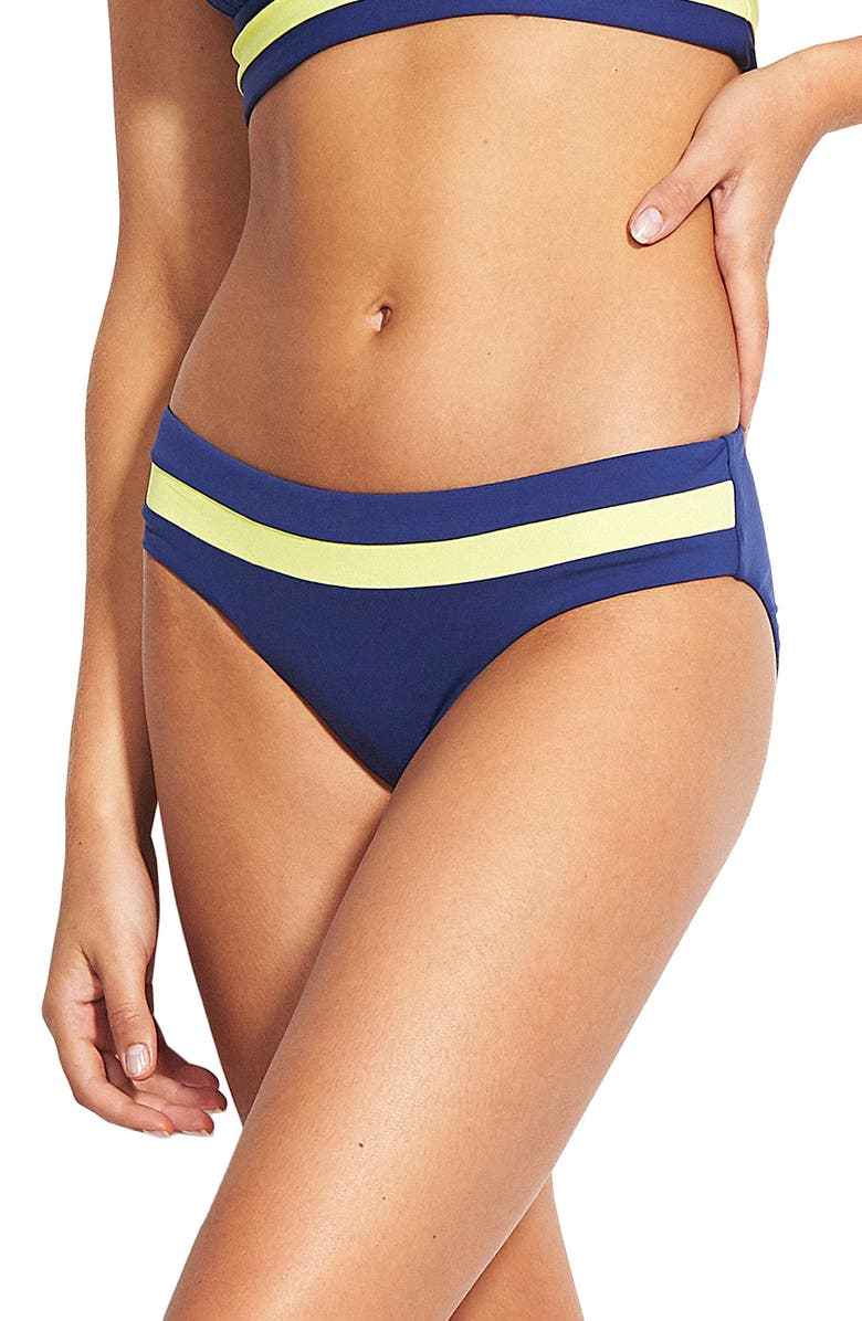 0ffdc2c77bfe9 In the Loop Banded Hipster Bikini Bottoms, Main, color, BLUE OPAL