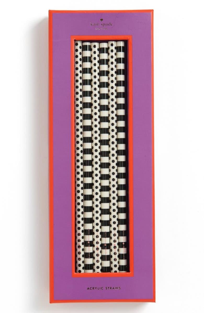 KATE SPADE NEW YORK acrylic straws, Main, color, 001