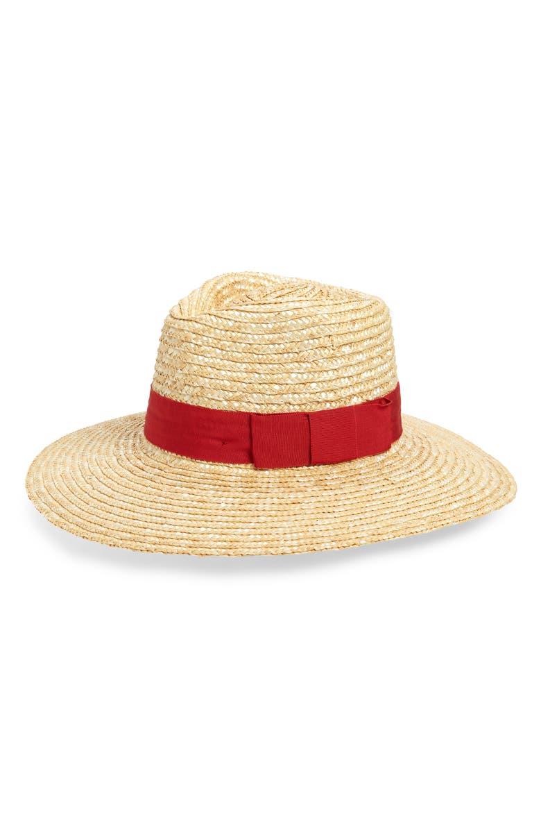 BRIXTON Joanna Straw Hat, Main, color, HONEY/ SUNRISE