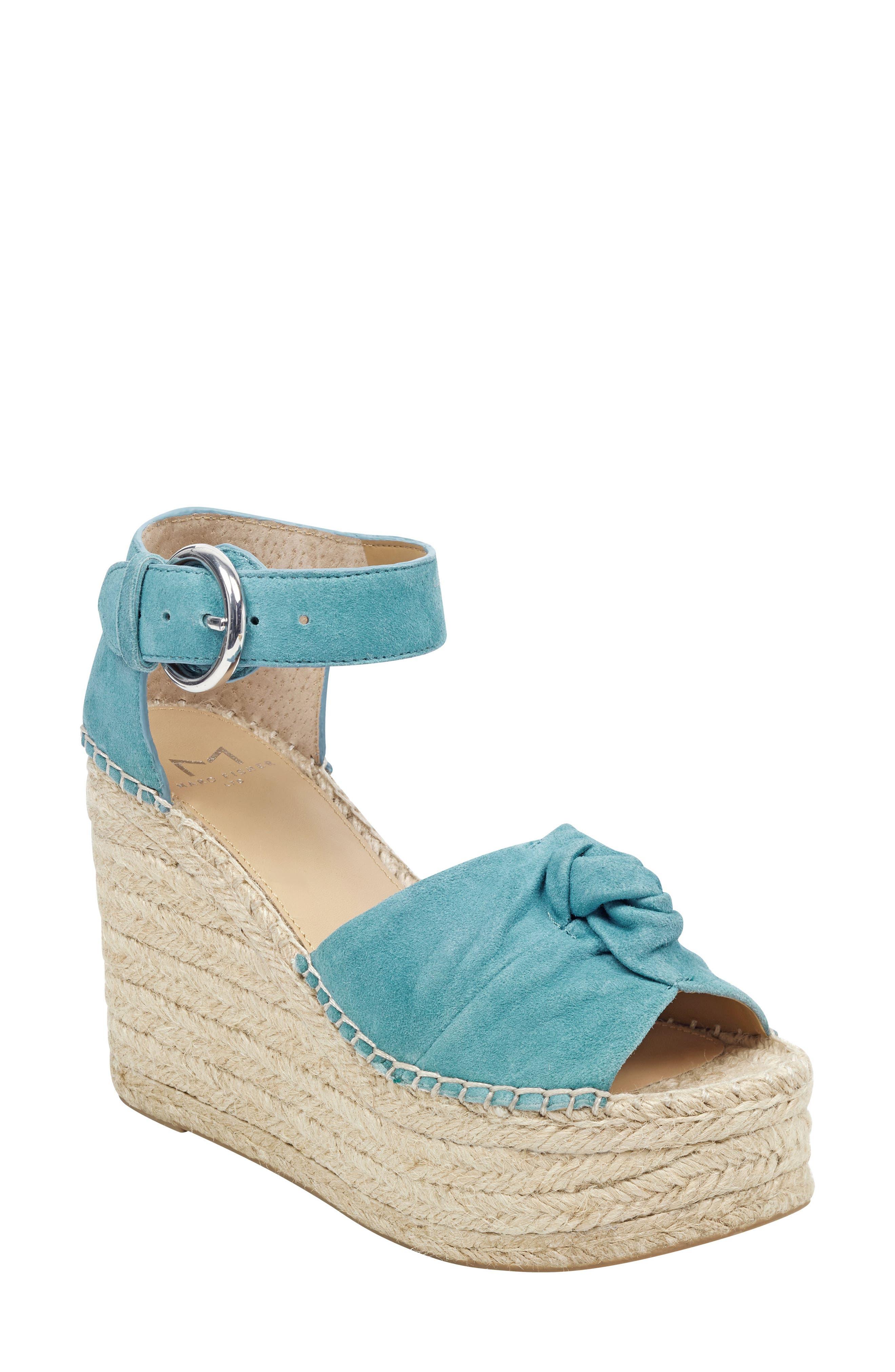 Marc Fisher Ltd Anty Platform Espadrille Sandal- Blue