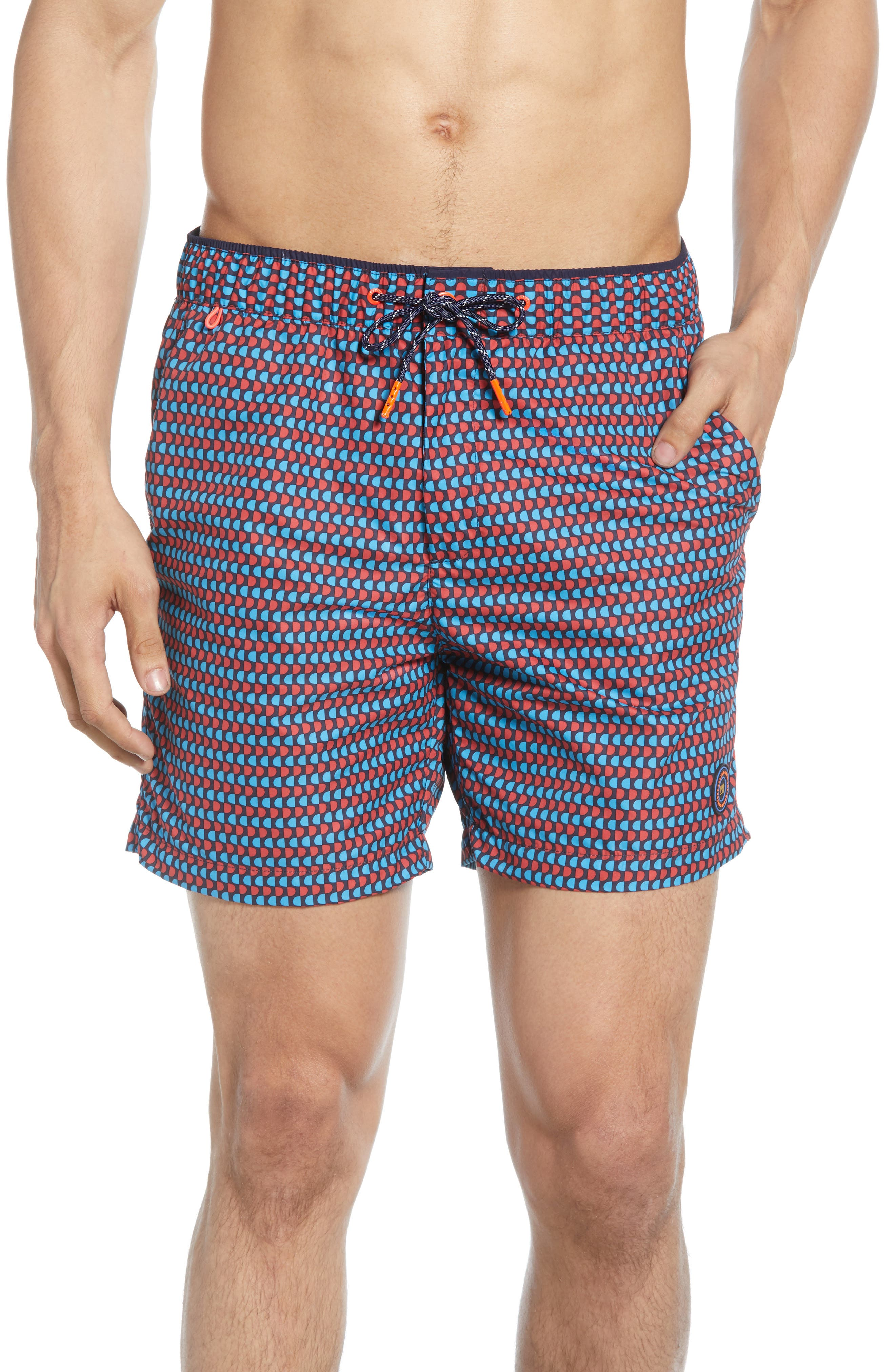 4a37c29e4f Scotch & Soda Classic Colorful Swim Trunks, Blue