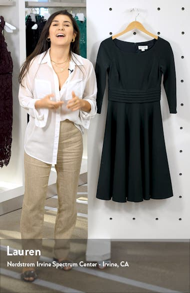 Pleated Fit & Flare Dress, sales video thumbnail