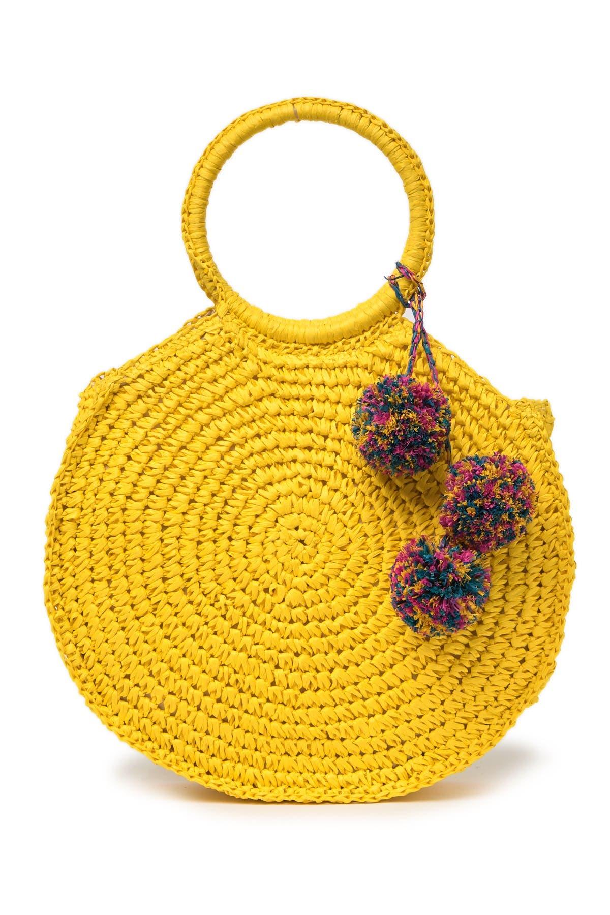 Image of Melrose and Market Straw O-Ring Handle Bag