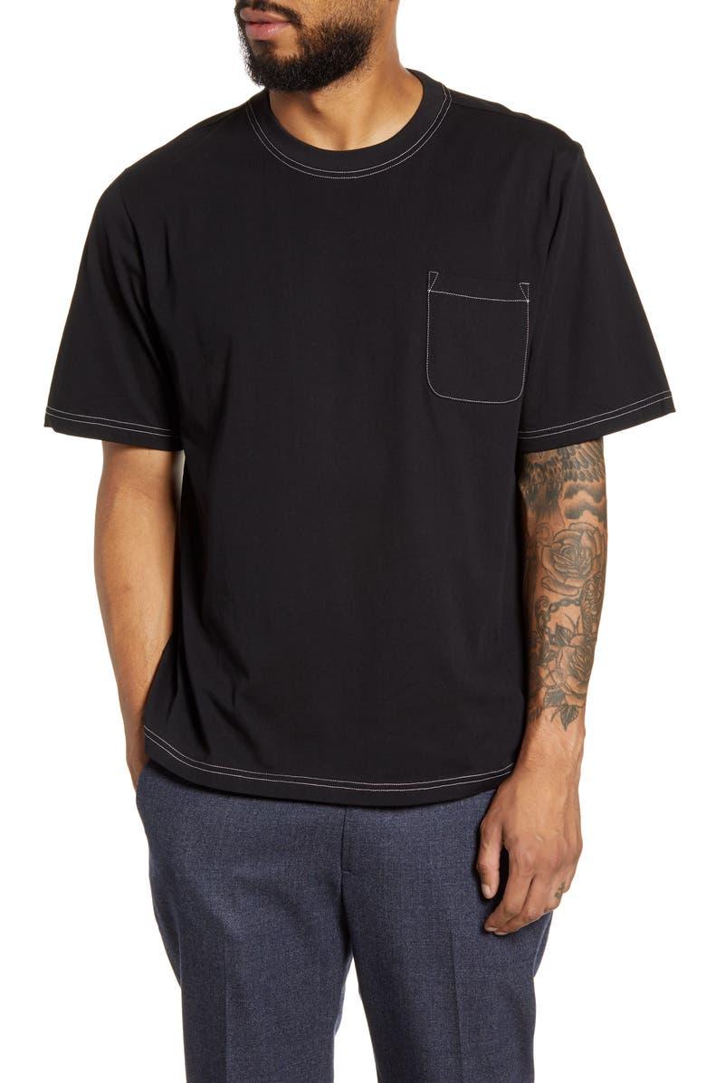 OLIVER SPENCER Slim Fit Box T-Shirt, Main, color, 001