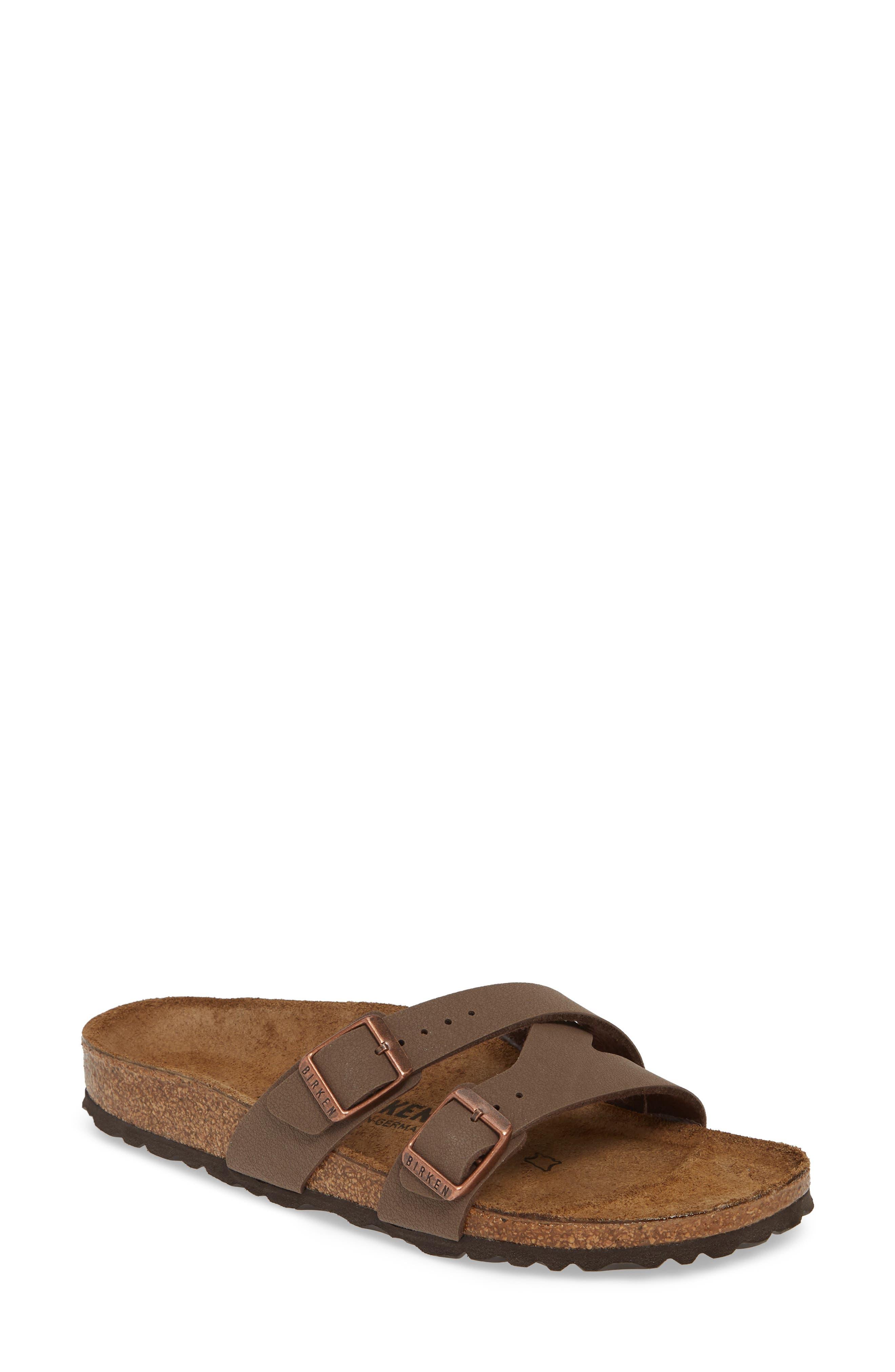 Birkenstock Yao Slide Sandal, Brown