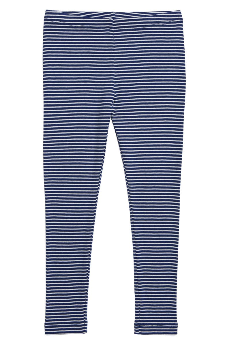 TEA COLLECTION Stripe Cotton Leggings, Main, color, NIGHTFALL