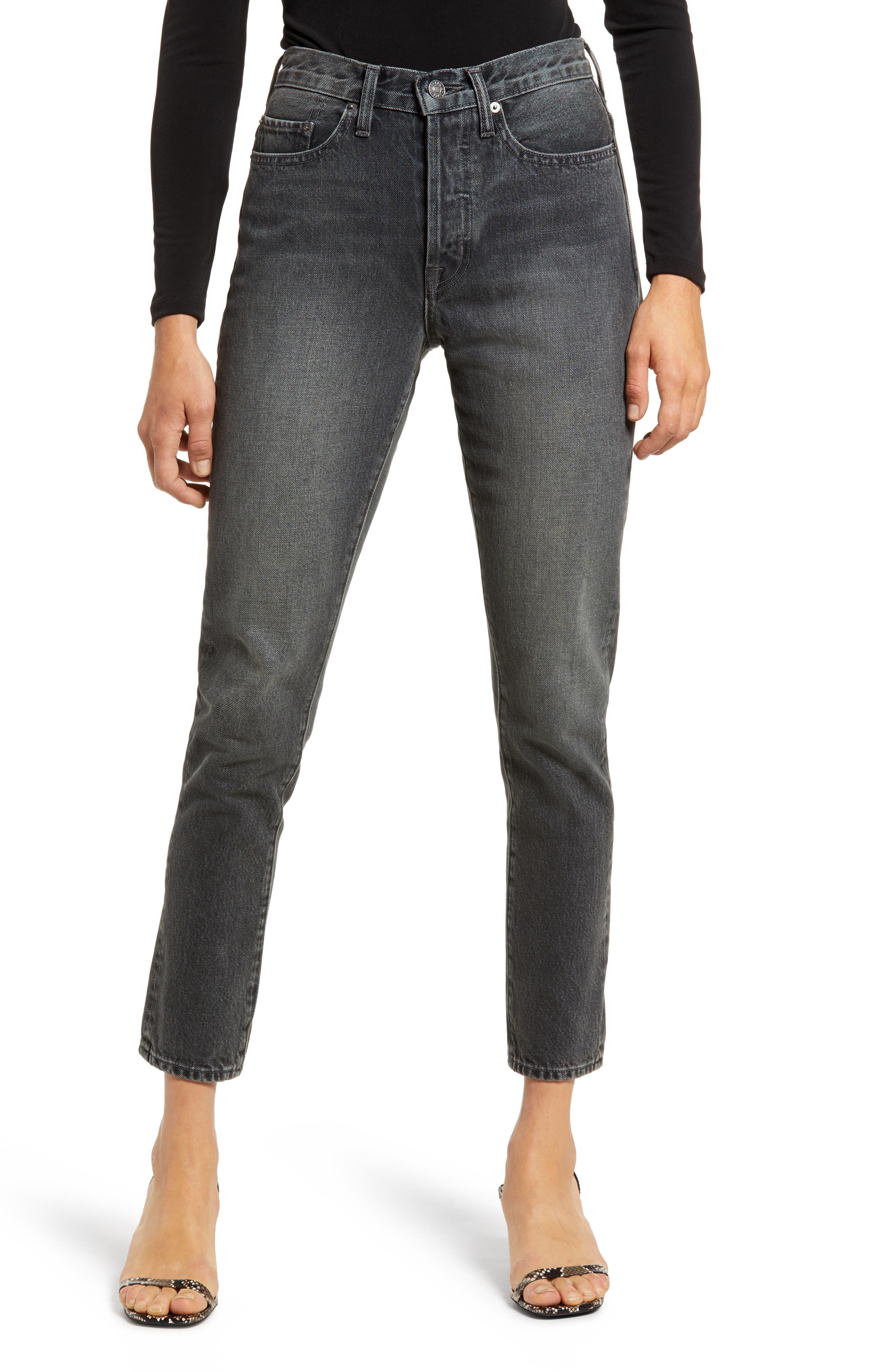 Hana High Waist Crop Straight Leg Jeans