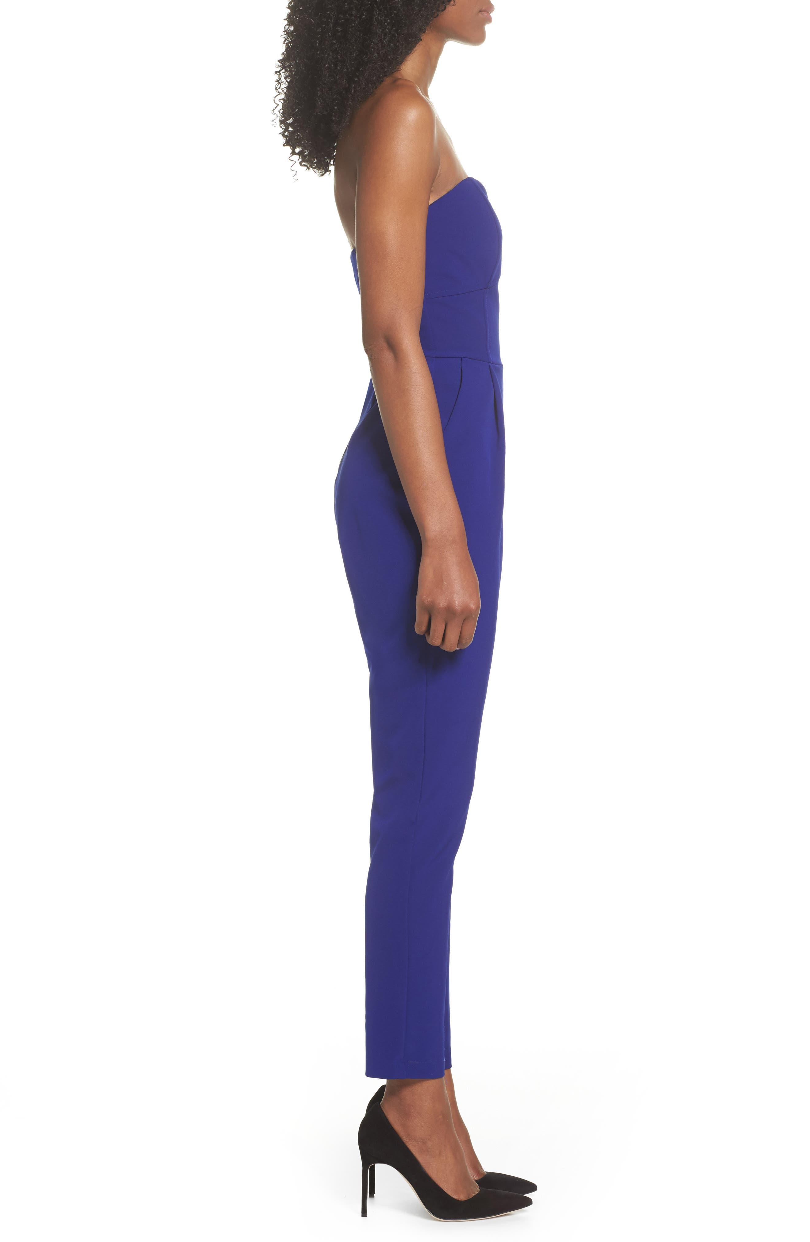 ,                             Strapless Slim Leg Jumpsuit,                             Alternate thumbnail 11, color,                             401