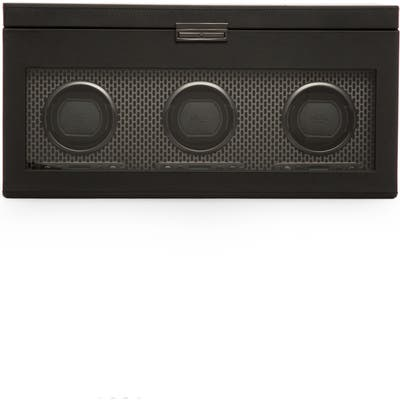 Wolf Axis Triple Watch Winder & Case - Black