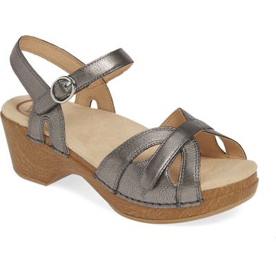 Dansko Season Sandal-6- Grey