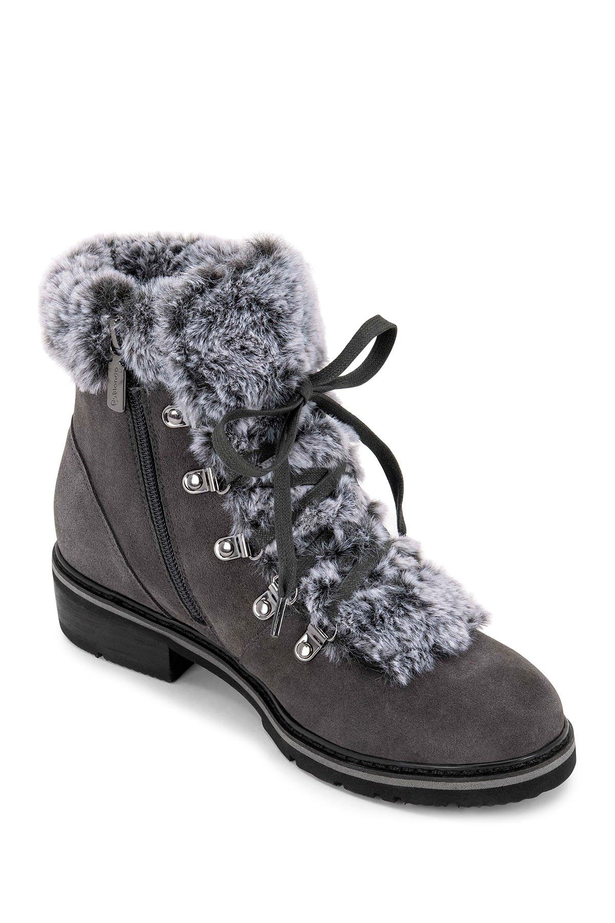 Image of Blondo Veer Waterproof Suede Faux Fur Lace-Up Boot
