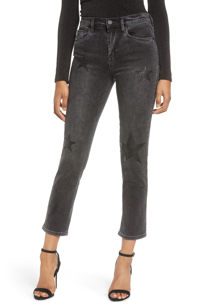 BLANKNYC Star Patch Crop Skinny Jeans, Main, color, BEFORE AND AFTER