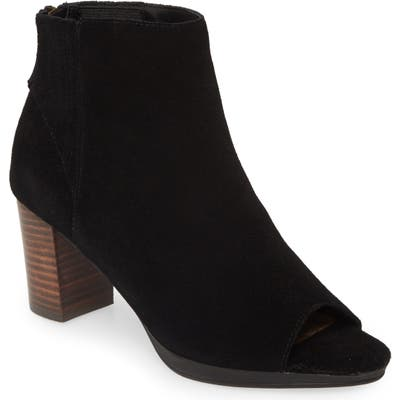 Bella Vita Lex Open Toe Bootie, Black