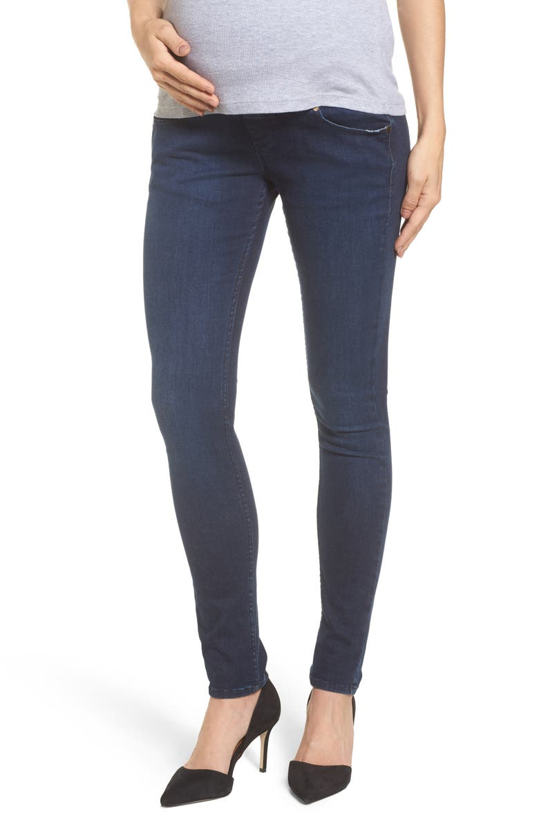 ISABELLA OLIVER Super Stretch Maternity Skinny Jeans, Main, color, INDIGO