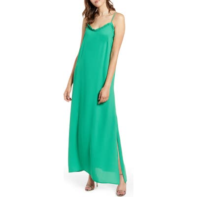 Halogen Camisole Maxi Dress, Green