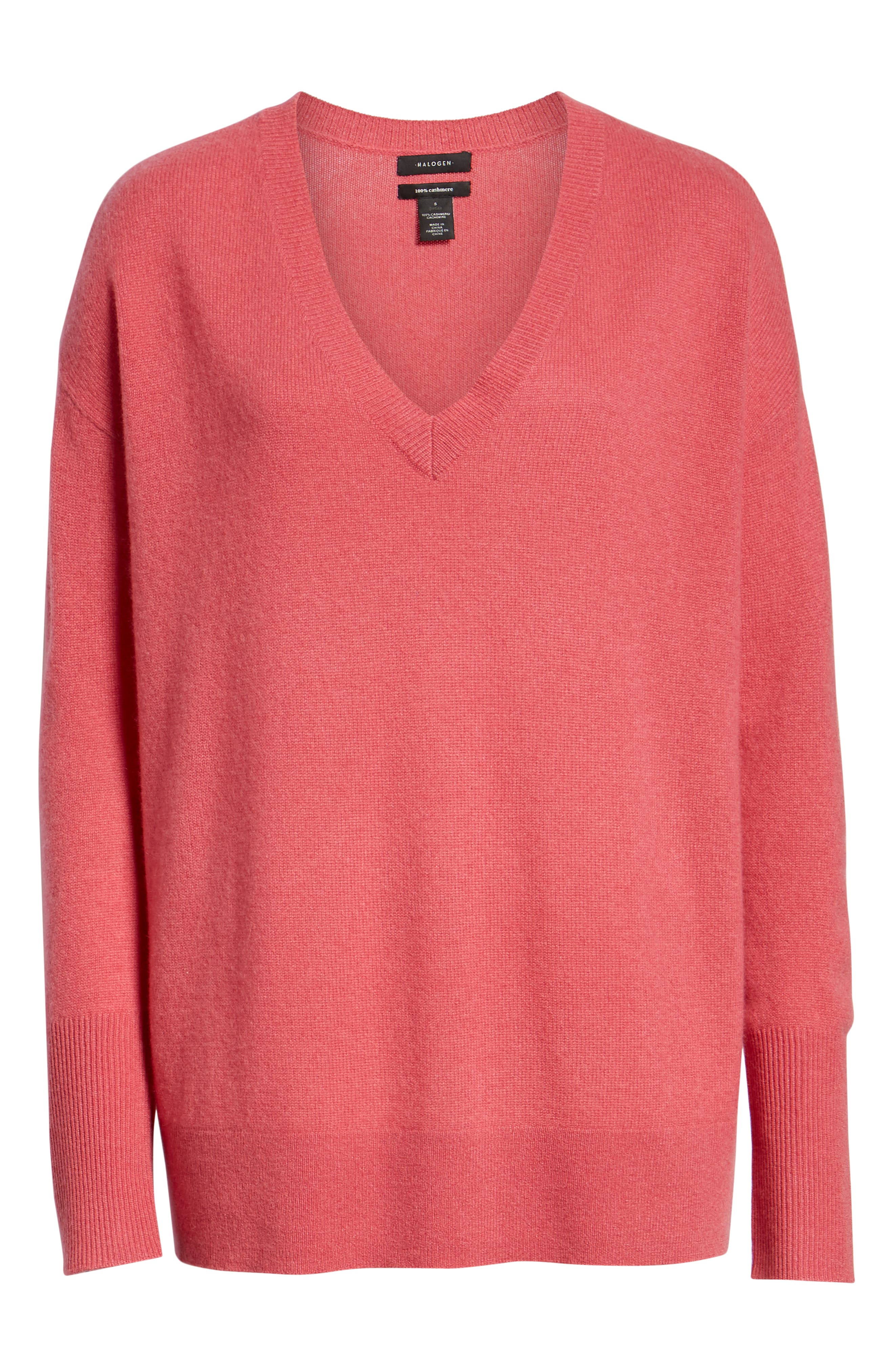 ,                             Relaxed V-Neck Cashmere Sweater,                             Alternate thumbnail 69, color,                             650