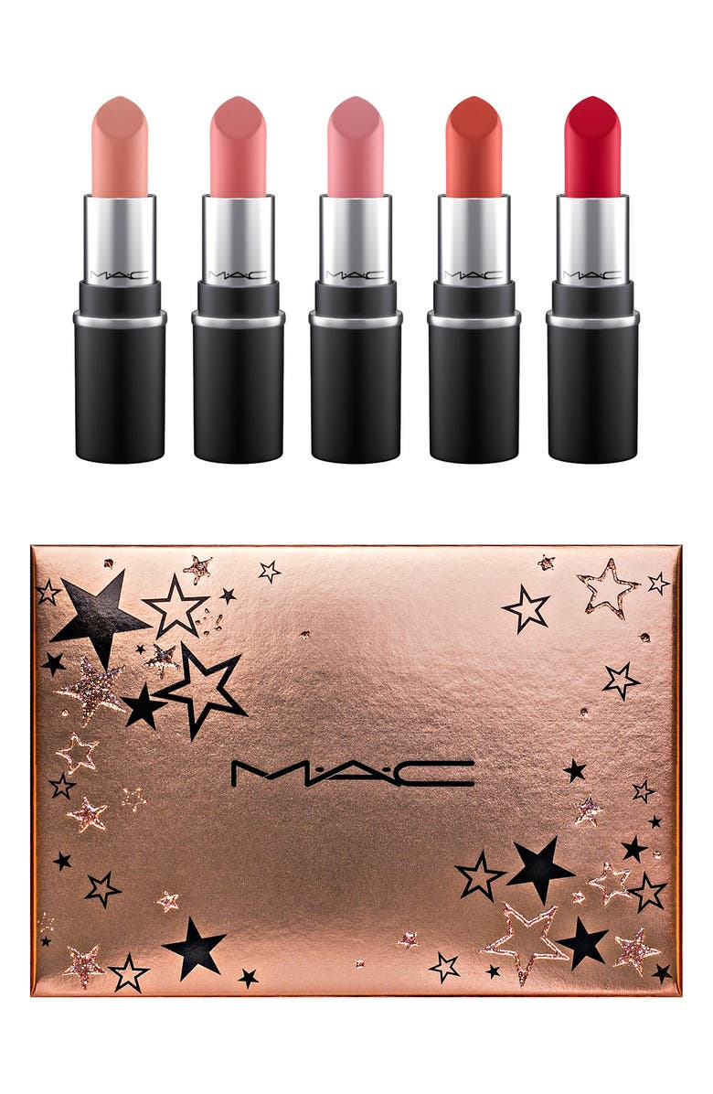 MAC COSMETICS MAC Wish Upon Stars Mini Lipstick Set, Main, color, NO COLOR