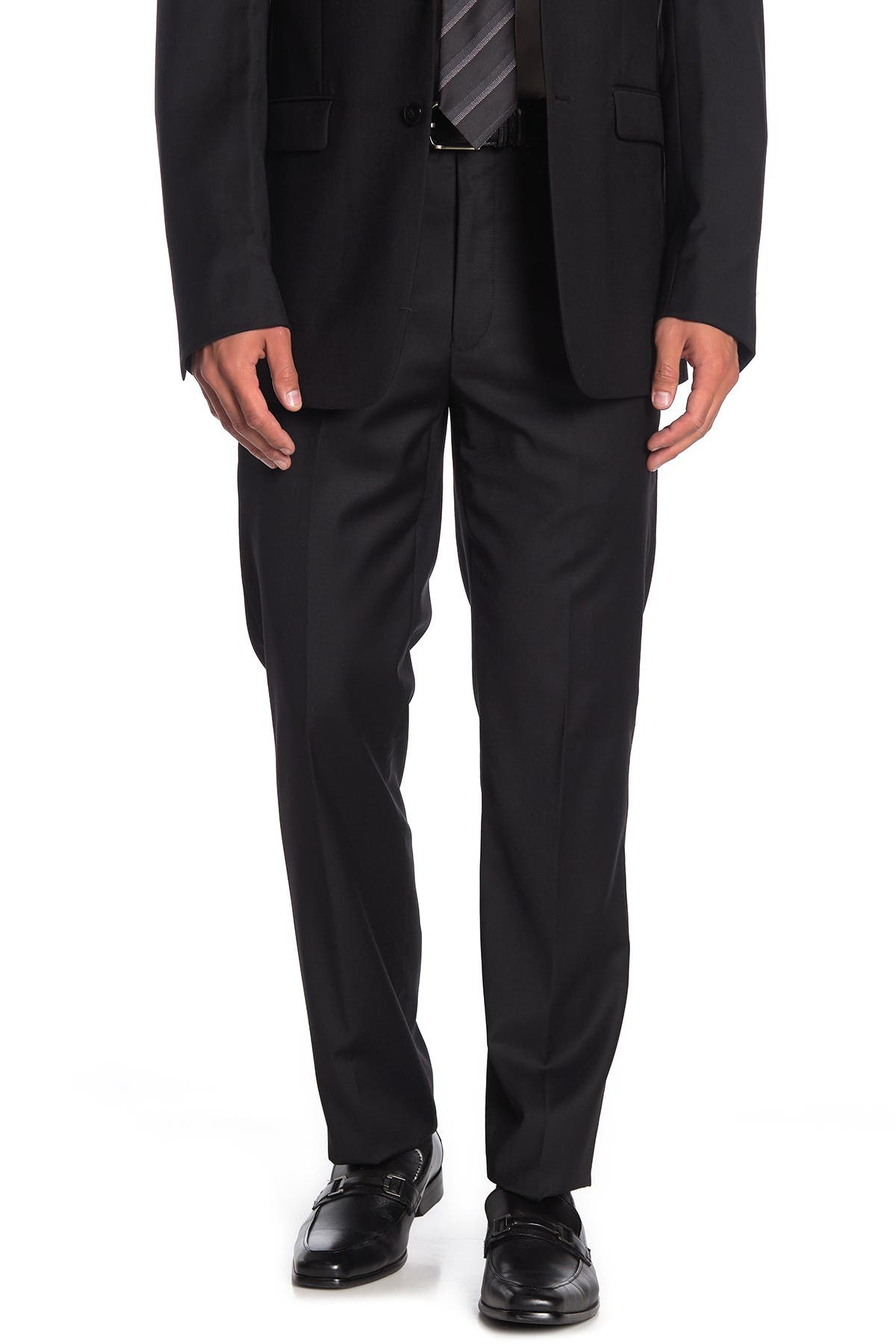 "Image of Calvin Klein Solid Black Suit Separates Pants - 30-34"" Inseam"