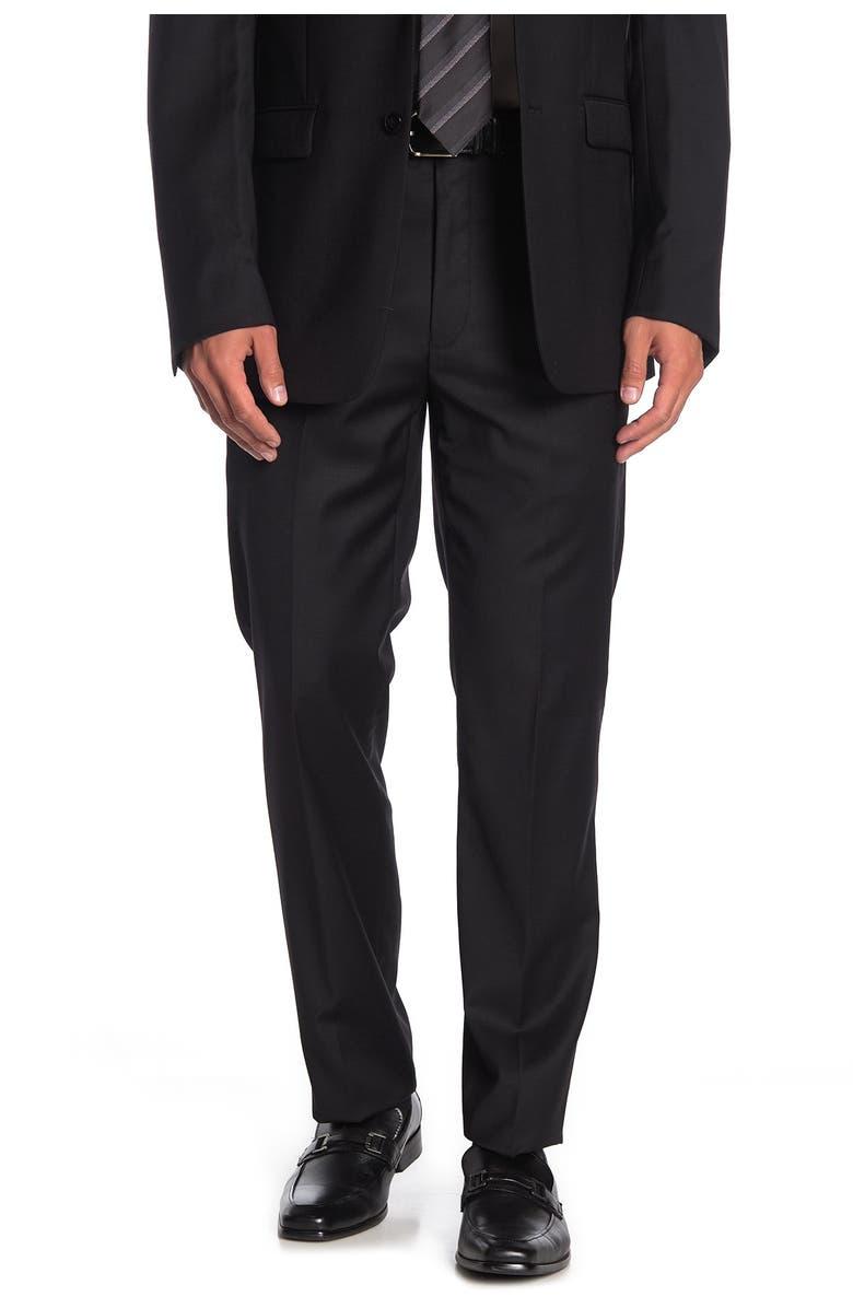 """CALVIN KLEIN Solid Black Suit Separates Pants - 30-34"""" Inseam, Main, color, BLACK"""