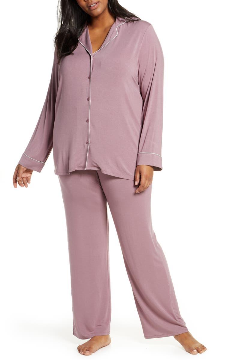 NORDSTROM LINGERIE Moonlight Pajamas, Main, color, PURPLE SHAKE
