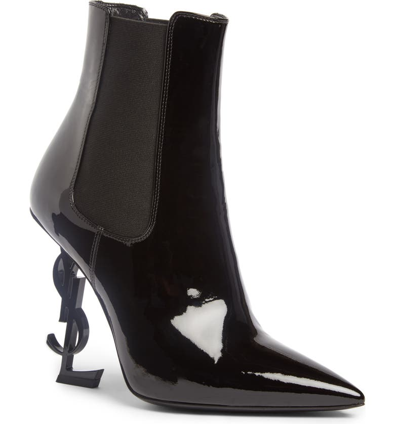 SAINT LAURENT Opyum YSL Bootie, Main, color, BLACK/ BLACK