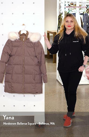 North Pole Quilted Hooded Parka with Faux Fur Trim, sales video thumbnail