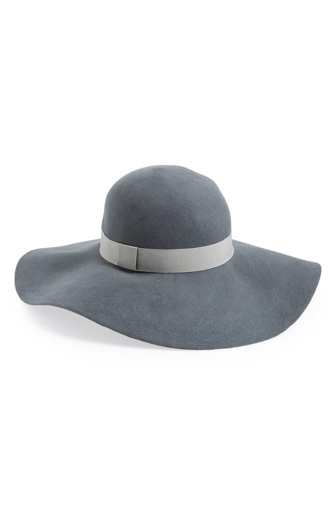 ,                             Floppy Felt Hat,                             Main thumbnail 3, color,                             020