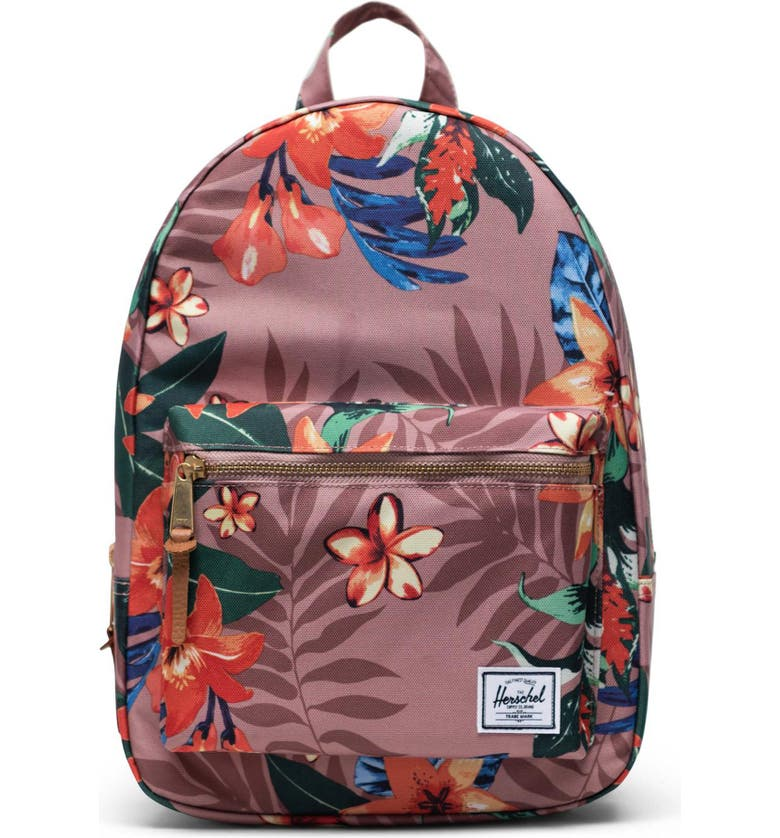 HERSCHEL SUPPLY CO. Small Grove Summer Floral Backpack, Main, color, SUMMER FLORAL ASH ROSE