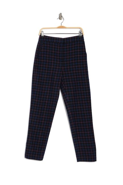 Image of Rag & Bone Poppy Printed High Waisted Wool Blend Trousers